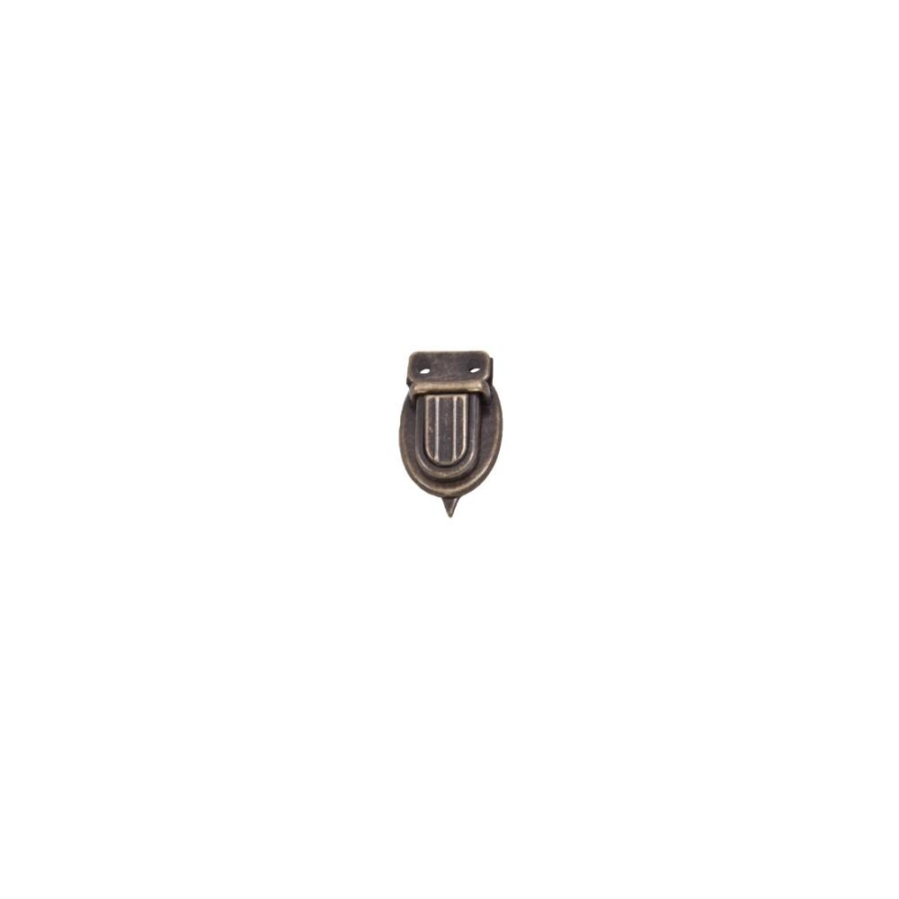 Mini-Steckschloss Messing Antik 15 x 25 mm