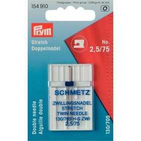 Stretch Doppelnadel Nr.75 Nähmaschinen Nadeln Prym/Schmetz